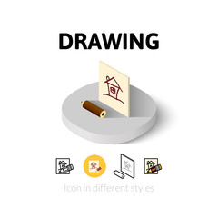 Drawing icon in different style