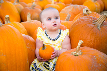 Cute Pumpkin Patch Baby