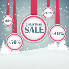 Christmas SALE Concept  Background Vector Illustration