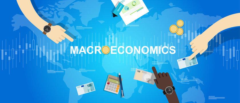 macroeconomic macro economy concept business market financial world