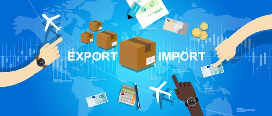 export import global trade world map market international