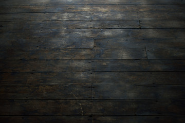 View of Damaged Wood Flooring