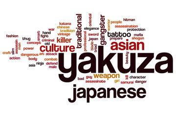 Yakuza word cloud concept