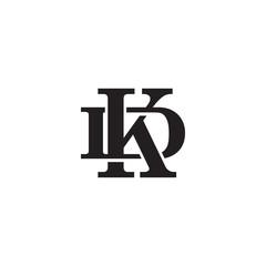 Letter D and K monogram logo