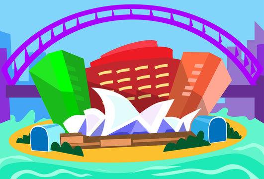 Sydney Abstract Skyline City Skyscraper Silhouette