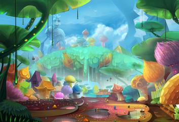 Illustration: Comes to the Ant Planet - Scene Design - Fantastic Style