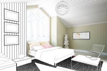 Dachboden-Ausbau (Entwurf)