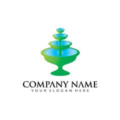 fountain Logo Icon Vector