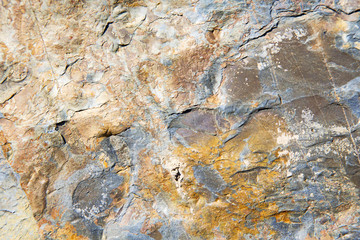 rocks stone and red orange gneiss in the