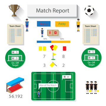 soccer match report statistic infographic