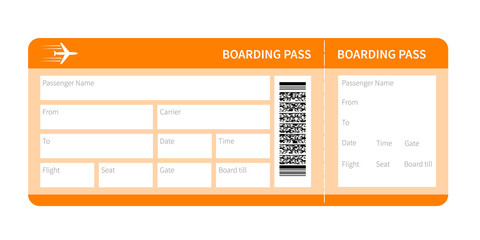 yellow boarding pass