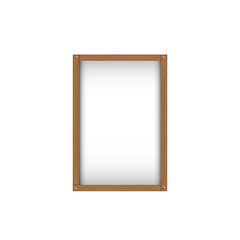 wood picture frame with shadow inside design for image or text