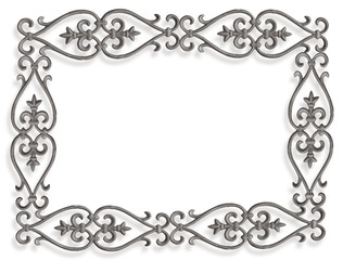 metal frame on the white background