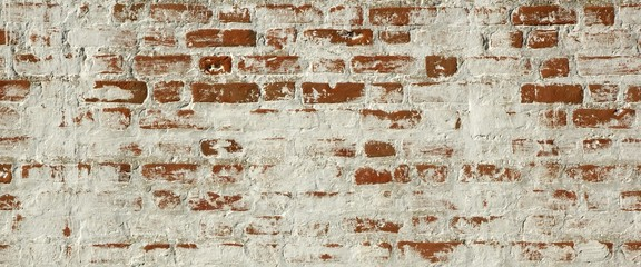 Patchy Red White Brick Wall Texture