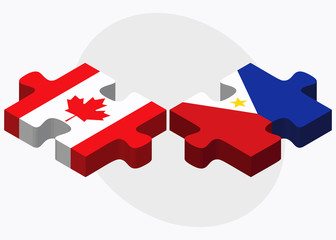 Canada and Philippines Flags