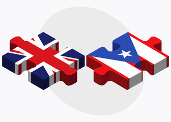 United Kingdom and Puerto Rico Flags