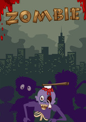 Zombie with axe on head