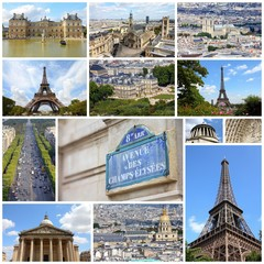 Paris - travel collage