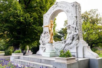 Aluminium Prints Vienna memorial of Johann Strauss son in Stadtpark Vienna