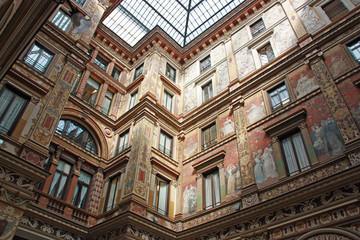 Rome, fresques Art déco de la galerie Sciarra, Italie