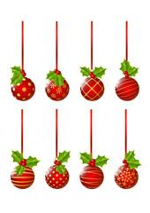 Set of Christmas balls for Your design