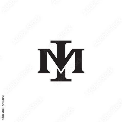 """"""" Letter M And I Monogram Logo"""" Stock Image And Royalty"""