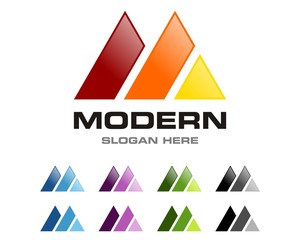 M Letter - Mountain Logo