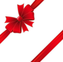 Red detailed Bow