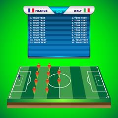 Soccer Match Scoreboard on a Playfield