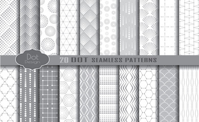 dot seamless patterns.pattern swatches included for illustrator