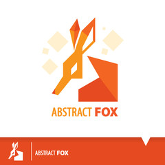 Abstract Fox icon symbol