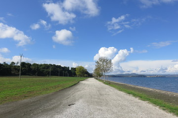 strada bianca, lago di Bolsena