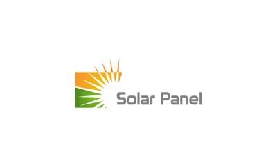 solar panel energy sun company logo