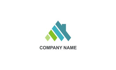 home abstract construction company logo