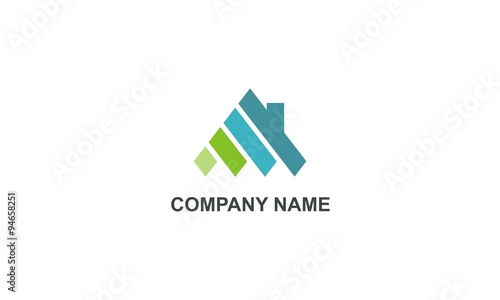 Quot Home Abstract Construction Company Logo Quot Stock Image And