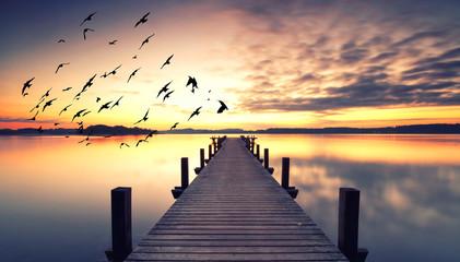 Licht am Morgen am See