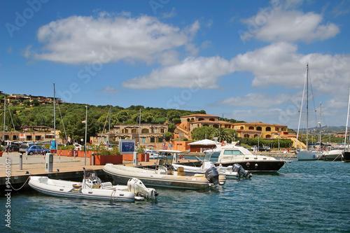 Marina Di Portisco Italy  city pictures gallery : Yachts anchored at the Marina di Portisco, Sardinia, Italy