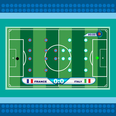 Football Soccer Playfield Top View