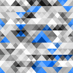 Abstract  seamless pattern with triangles. Vector illustration.
