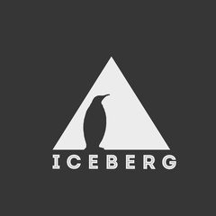 Penguin on iceberg logo design