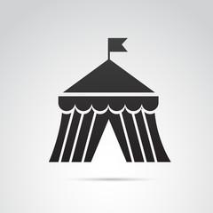 Circus ten vector icon.