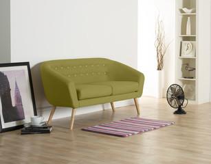 Tub Sofa in white Neutral modern room set