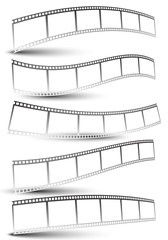 Black and white film strips, film tapes