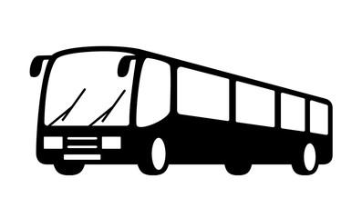 black bus silhouette