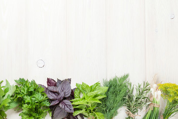 Fresh garden herbs