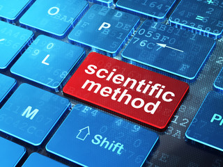 Science concept: Scientific Method on computer keyboard background