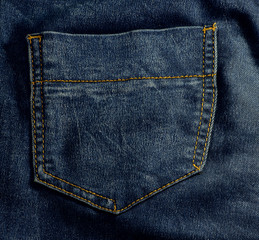 pockets on jeans as a background