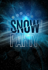 Christmas Snow Party Flyer
