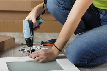visseuse bricolage meuble en kit