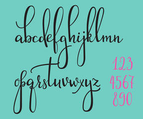 Calligraphy cursive font